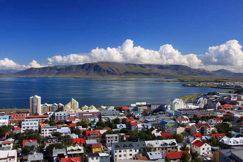 Reykjavik in IJsland een van de  IJsland bezienswaardigheden