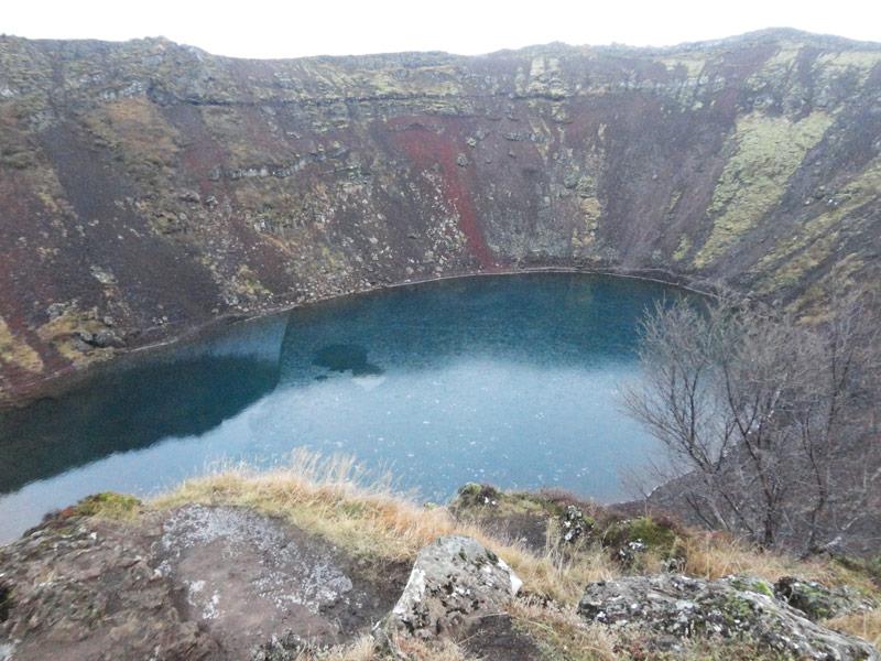 De Vulkaan Kerio een van de  IJsland bezienswaardigheden