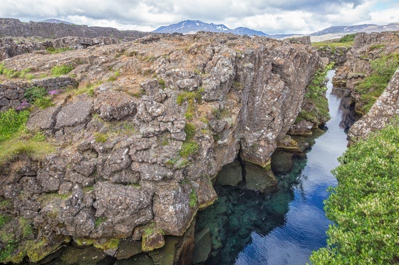 De Silfra Kloof een van de  IJsland bezienswaardigheden