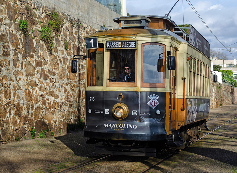 Iconische tram in Porto